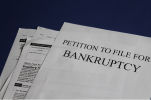 A petition to file for bankruptcy